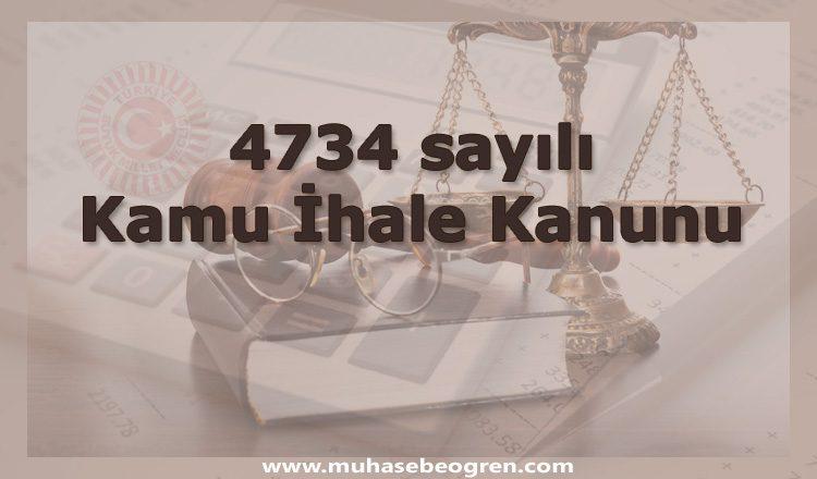 4734 sayılı kamu ihale kanunu